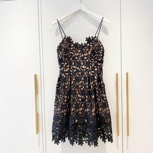 Self Portrait lookalike Danity Black lace Dress